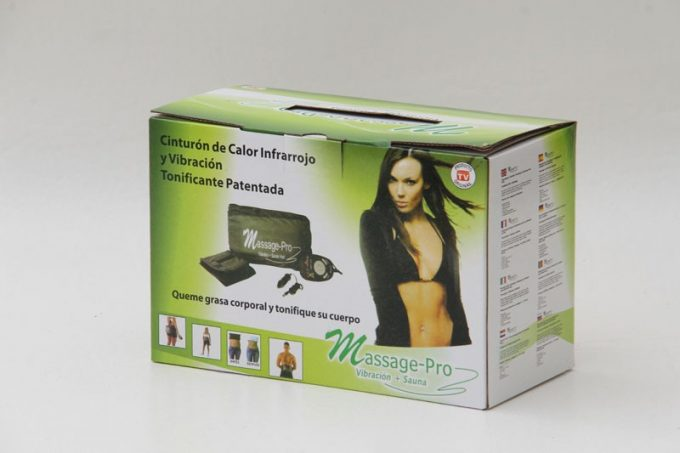 Massage pro - Cinturón Masajeador con Vibración y Calor Massage Pro